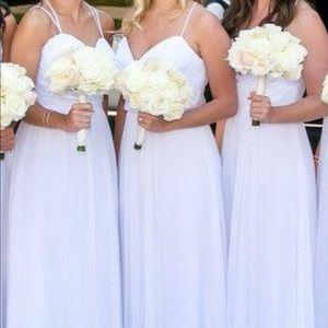 Jim Hjelm Occasions white bridesmaid dress
